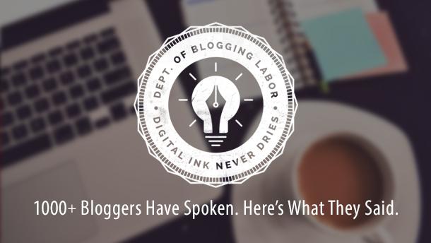ブロガー1000人に聞いた!ブログ運営調査結果を日本初公開