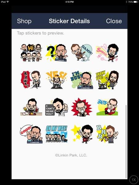 likin park line sticker2