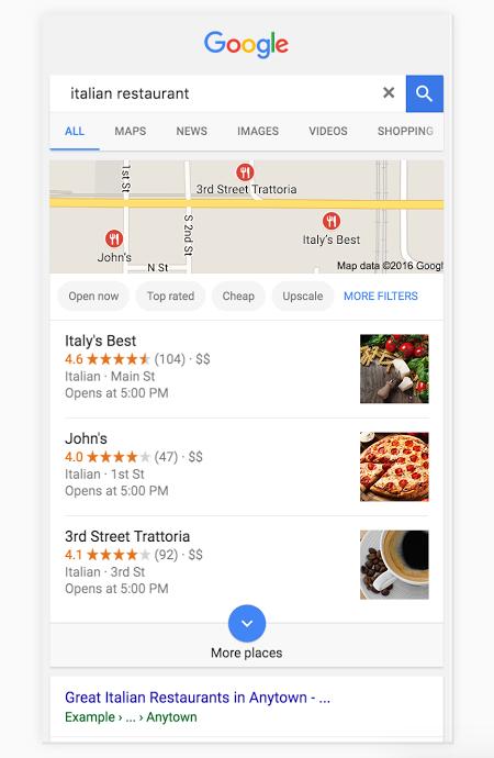Googleローカル検索結果